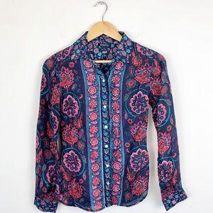 Lucky Brand 100% Silk Blouse